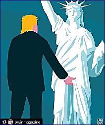 trump socha svobody